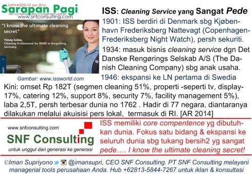 SAPA0200 ISS Cleaning Service berjati diri