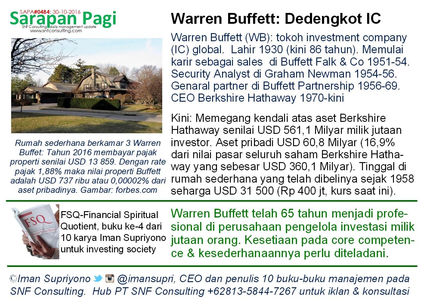 SAPA0484 Tokoh investment company Warren Buffet