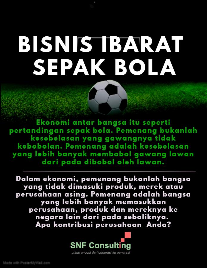 Ekonomi ibarat sepak bola
