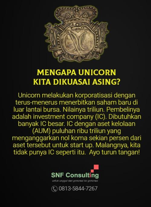 Unicorn dikuasai asing2