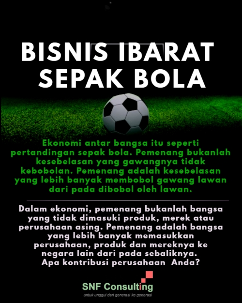Ekonomi ibarat sepak bola1