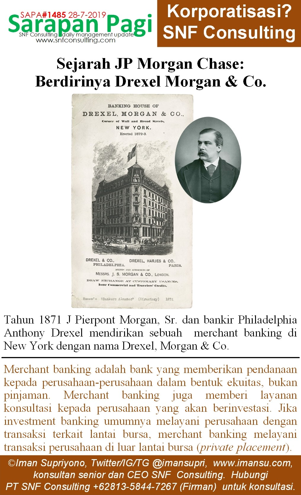SAPA1485 Sejarah JP Morgan berdirinya morgan drexel and co~2