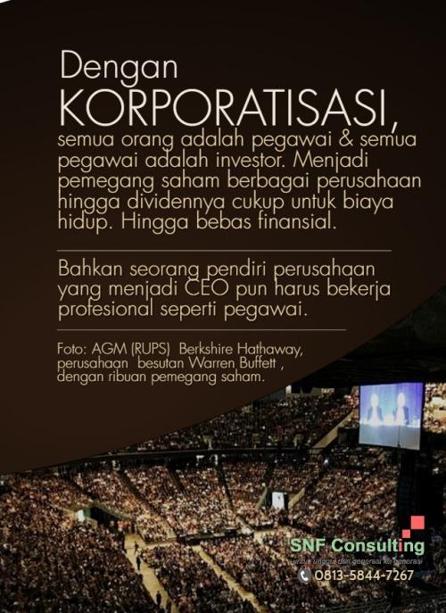 korporatisasi semua pegawai investor2