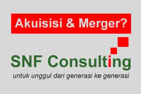 Logo SNF Consulting dengan tag line akuisisi