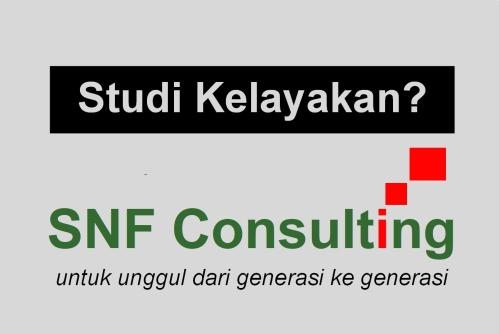 Logo SNF Consulting dengan tag line studi kelayakan