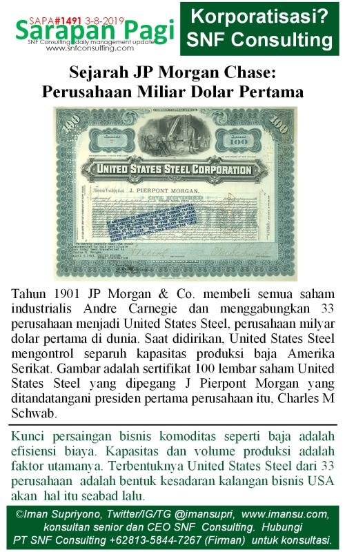 SAPA1491 Sejarah JP Morgan perusahaan miliar dolar pertama
