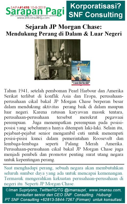 SAPA1498 Sejarah JP Morgan Chase mendukung perang di dalam dan luar negeri