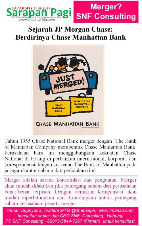 SAPA1499 Sejarah JP Morgan Chase Berdirinya chase manhattan bank