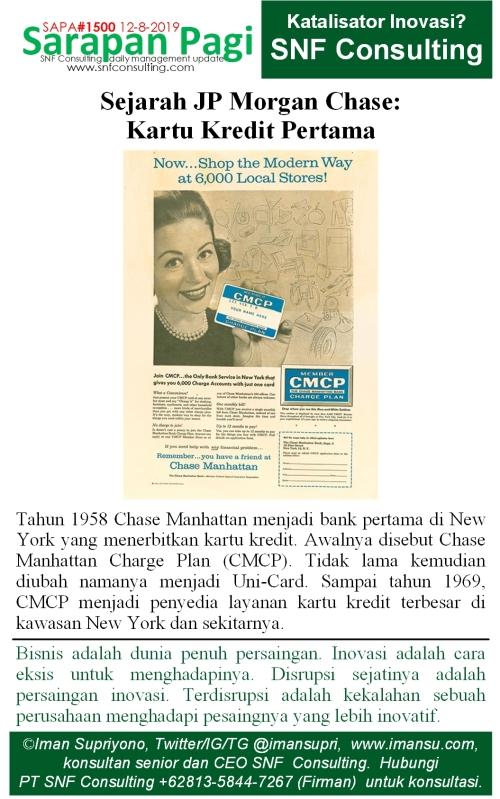 SAPA1500 Sejarah JP Morgan Chase memperkenalkan kartu charge
