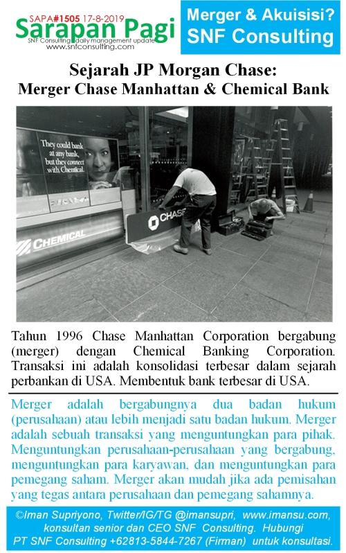 SAPA1505 Sejarah JP Morgan Chase merger chase manhattan n chemical banking