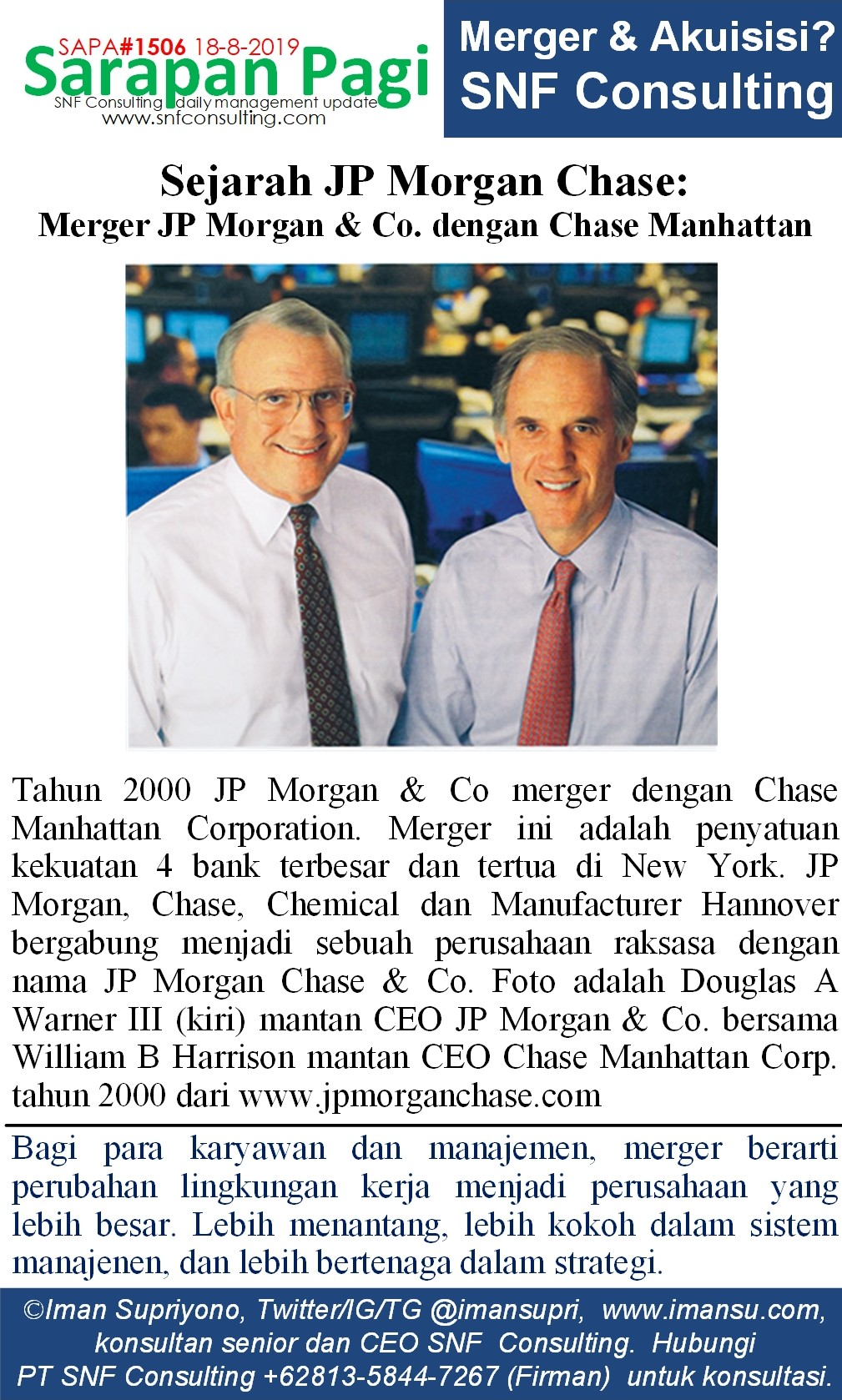 SAPA1506 Sejarah JP Morgan Chase merger JP Morgan co dengan chase manhatan~2