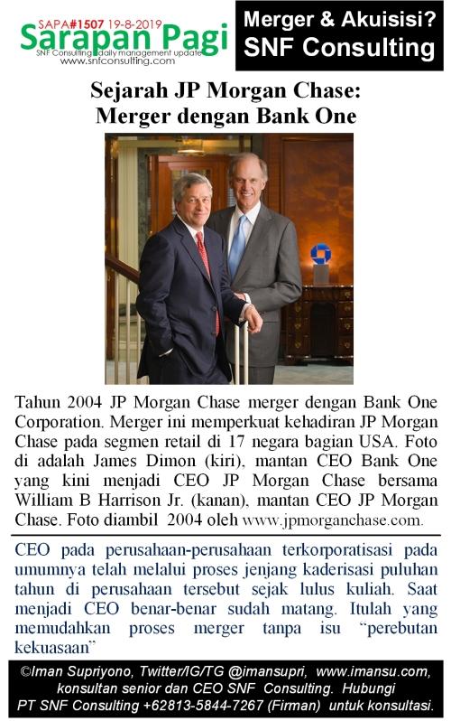 SAPA1507 Sejarah JP Morgan Chase merger dengan bank one