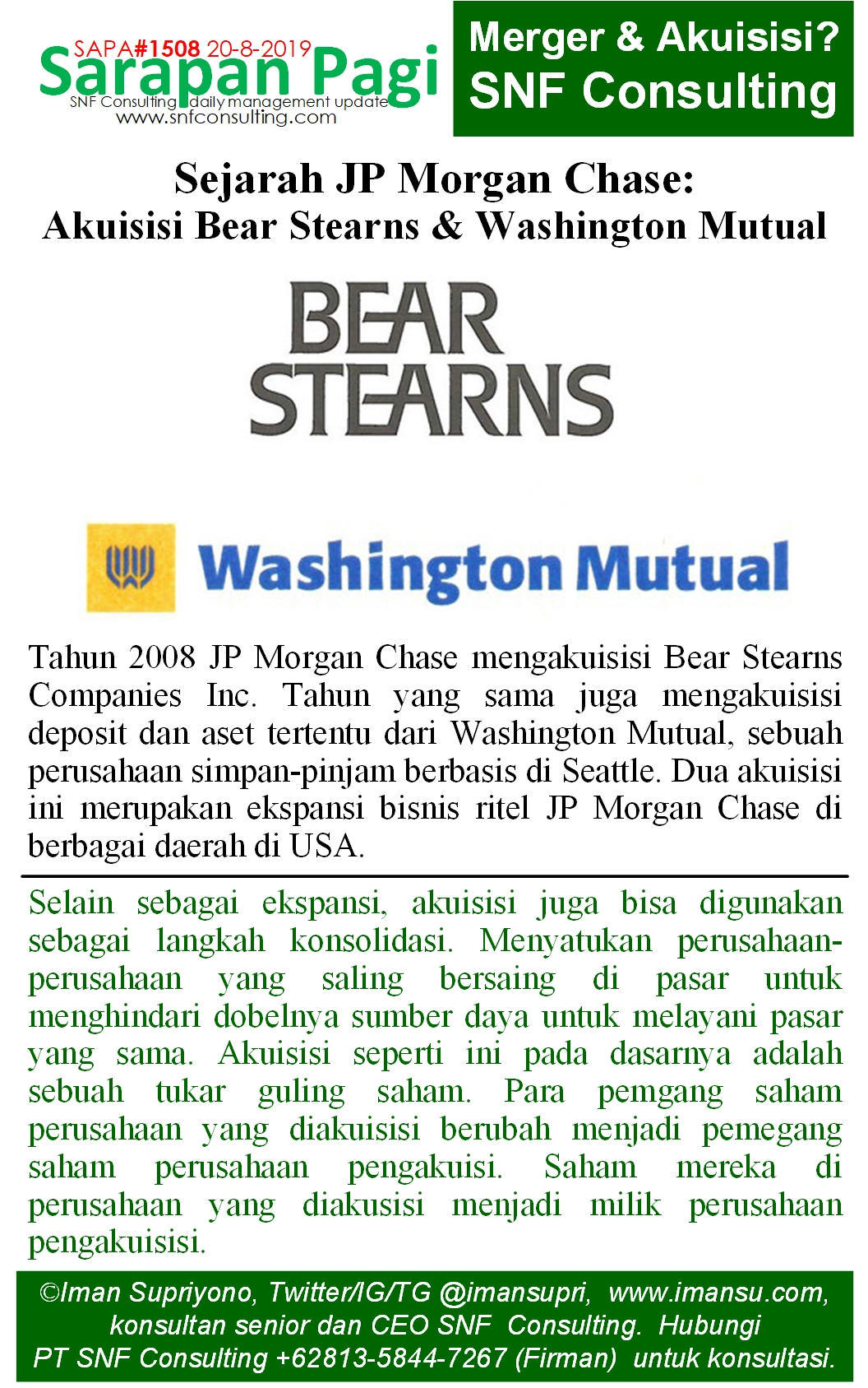 SAPA1508 Sejarah JP Morgan Chase akuisisi bear stern n washington mutual