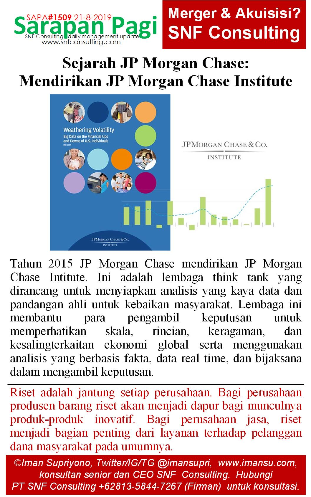 SAPA1509 Sejarah JP Morgan Chase pendirian jp morgan institute
