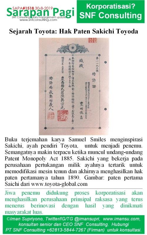 SAPA1518 Sejarah Toyota paten Sakichi