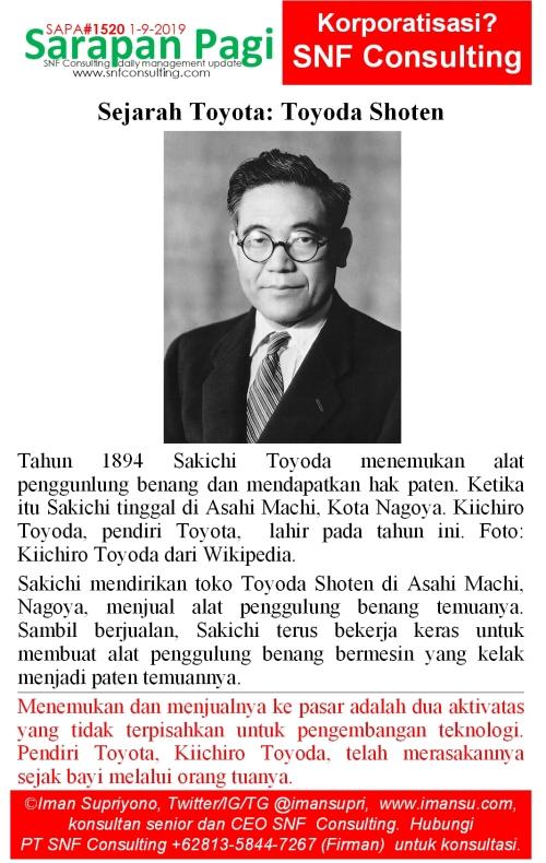 SAPA1520 Sejarah Toyota toyoda shoten