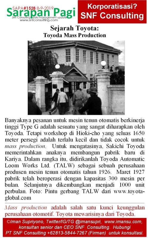 SAPA1528 Sejarah Toyota Mass Production Model G Loom
