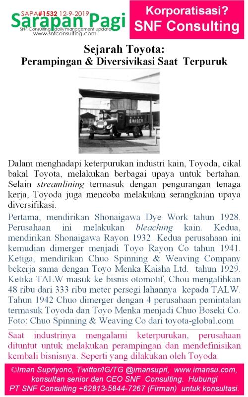 SAPA1532 Sejarah Toyota streamlining dan diversifikasi menghadapi keterpurukan