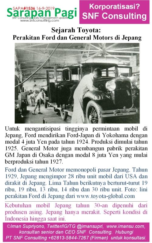 SAPA1536 Sejarah Toyota pabrik perakitan mobil USA di jepang