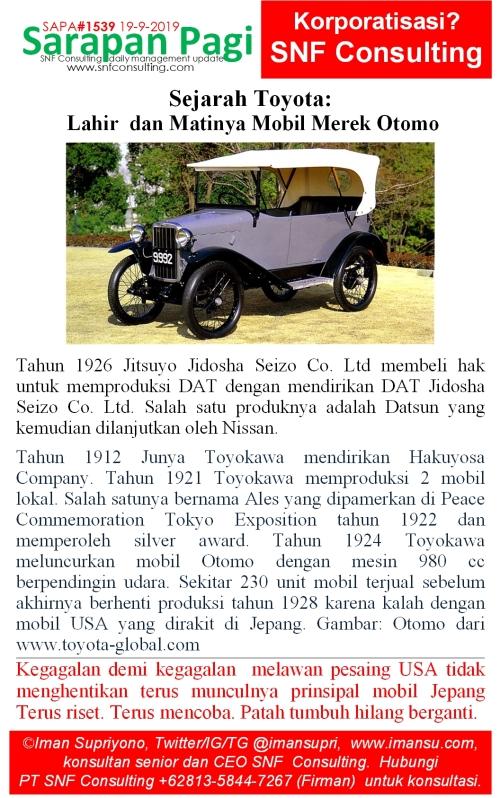 SAPA1539 Sejarah Toyota Muncul dan Hilangnya Mobil Merek Otomo