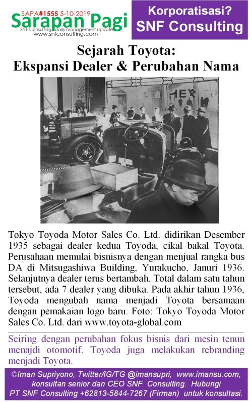 SAPA1555 Sejarah Toyota ekspansi dealership dan perubahan nama