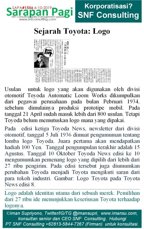 SAPA1556 Sejarah Toyota Logo