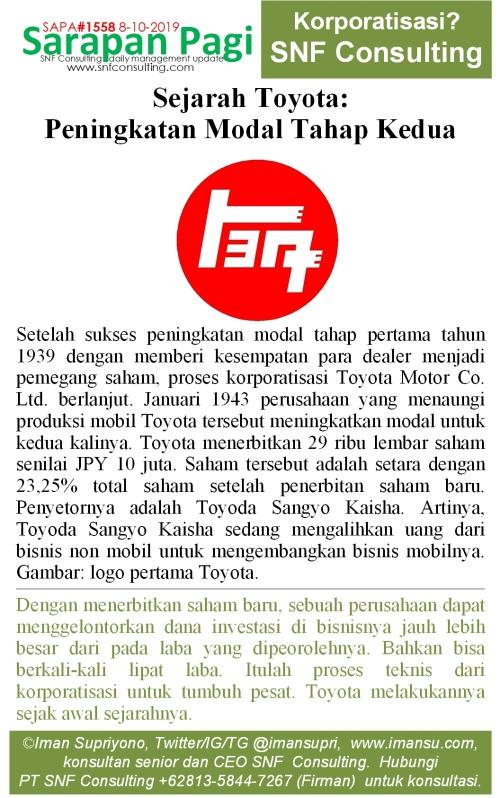 SAPA1558 Sejarah Toyota korporatisasi kedua