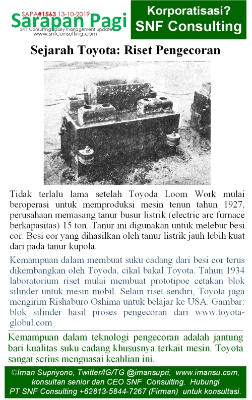 SAPA1563 Sejarah Toyota riset pengecoran