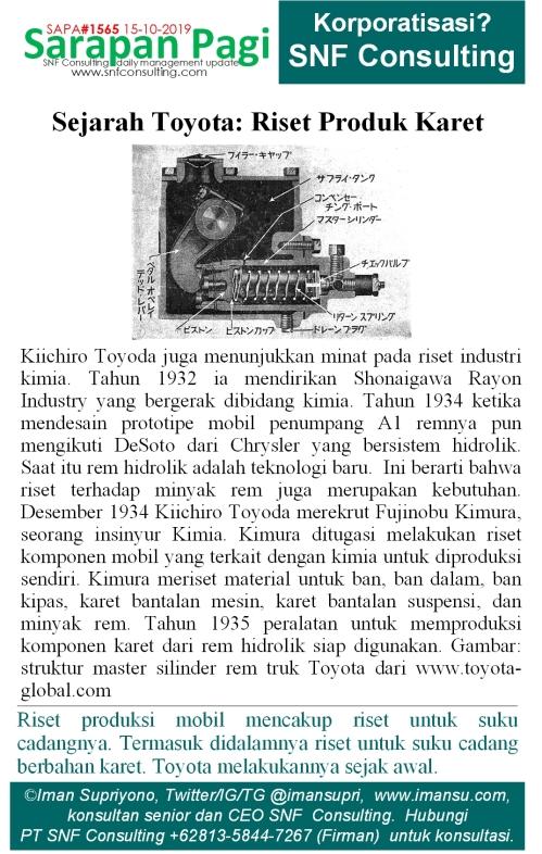SAPA1565 Sejarah Toyota R n D produk karet