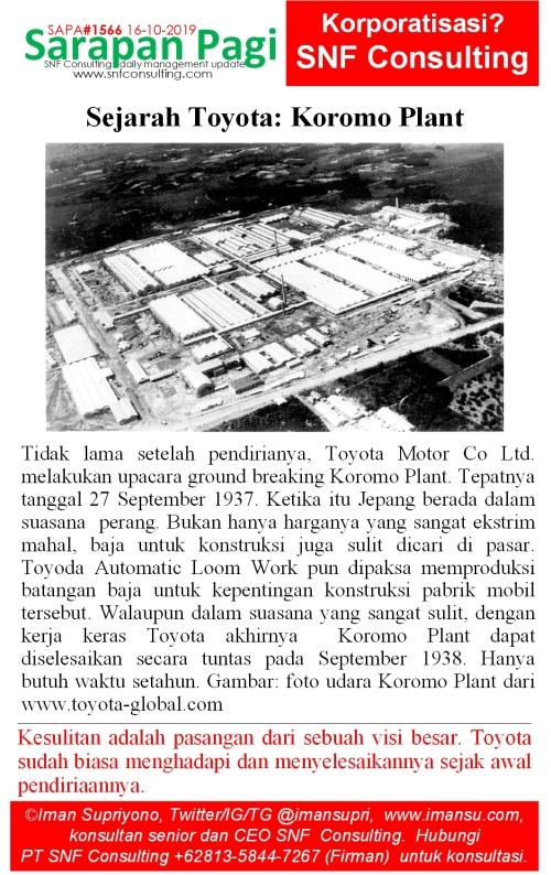 SAPA1566 Sejarah Toyota Koromo Plant