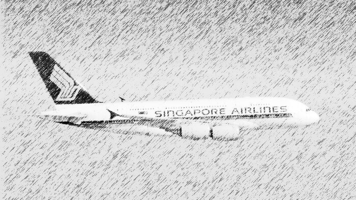 Singapore Airlines hand