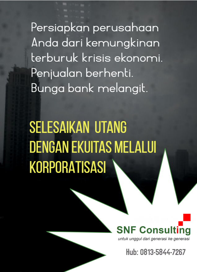 solusi utang dengan korporatisasi1