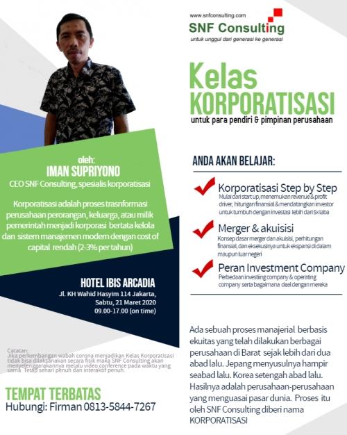 Kelas korporatisasi jakarta10
